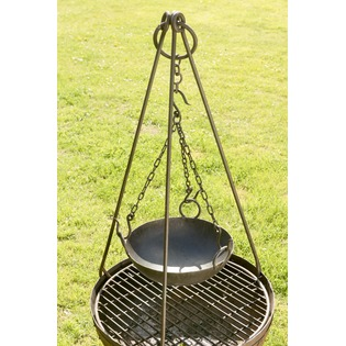 Tripod and Hanging Kadai Bowl Set