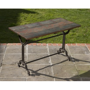Iron Table with Wood Top