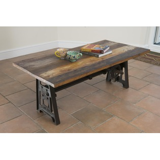 Iron and Reclaimed Wood Coffee Table