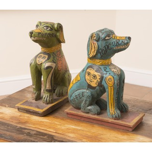Wooden Dog Door Stop