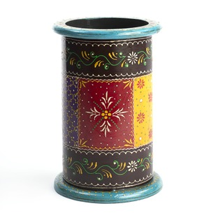 Wooden Hand Painted Planter