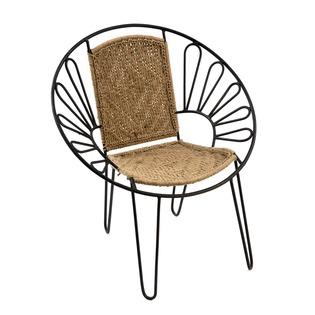 Hand Woven Iron Chindi Chair