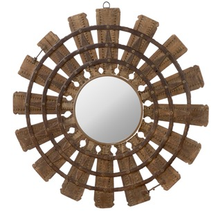 Wooden Burst Mirror