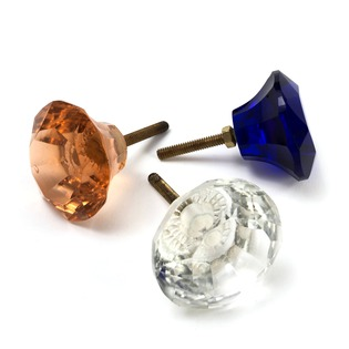 Glass Faceted Knob