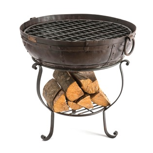 Recycled 60cm Fire Bowl Bundle with Free Logs