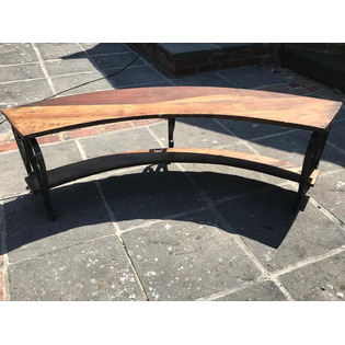 Iron Curved Bench