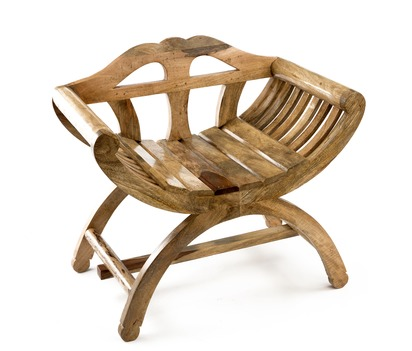 Acacia Wood Arm Chair