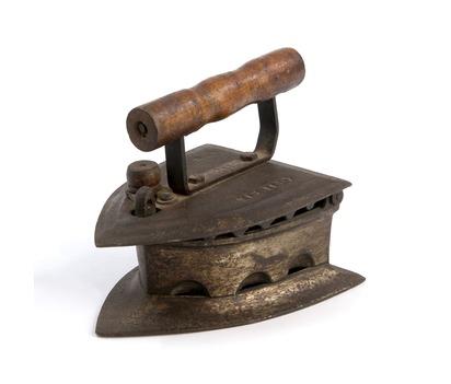 Vintage Cast Iron Coal Clothes Press