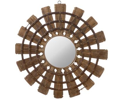 Wooden Burst Mirror