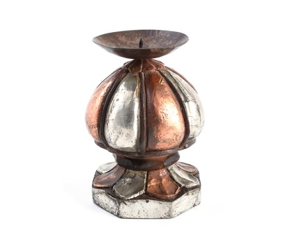 Wood and Metal Carved Candles